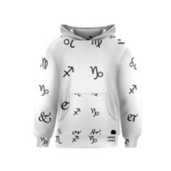Set Of Black Web Dings On White Background Abstract Symbols Kids  Pullover Hoodie