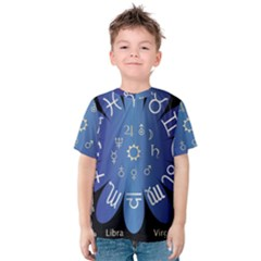 Astrology Birth Signs Chart Kids  Cotton Tee by Amaryn4rt