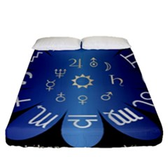 Astrology Birth Signs Chart Fitted Sheet (queen Size) by Amaryn4rt