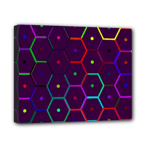 Color Bee Hive Pattern Canvas 10  X 8  by Amaryn4rt
