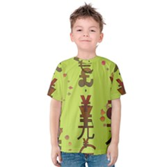 Set Of Monetary Symbols Kids  Cotton Tee by Amaryn4rt