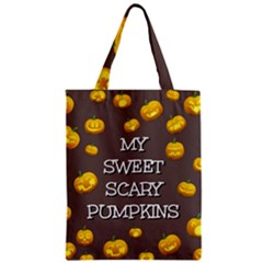 Scary Sweet Funny Cute Pumpkins Hallowen Ecard Classic Tote Bag by Amaryn4rt