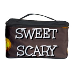 Scary Sweet Funny Cute Pumpkins Hallowen Ecard Cosmetic Storage Case by Amaryn4rt
