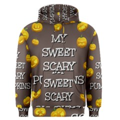 Scary Sweet Funny Cute Pumpkins Hallowen Ecard Men s Pullover Hoodie by Amaryn4rt