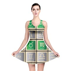 Set Of The Twelve Signs Of The Zodiac Astrology Birth Symbols Reversible Skater Dress by Amaryn4rt