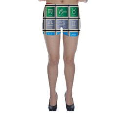 Set Of The Twelve Signs Of The Zodiac Astrology Birth Symbols Skinny Shorts by Amaryn4rt