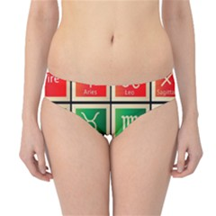 Set Of The Twelve Signs Of The Zodiac Astrology Birth Symbols Hipster Bikini Bottoms by Amaryn4rt
