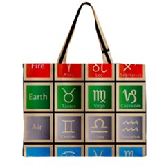 Set Of The Twelve Signs Of The Zodiac Astrology Birth Symbols Medium Zipper Tote Bag by Amaryn4rt
