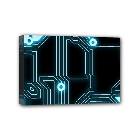 A Completely Seamless Background Design Circuitry Mini Canvas 6  X 4  by Amaryn4rt