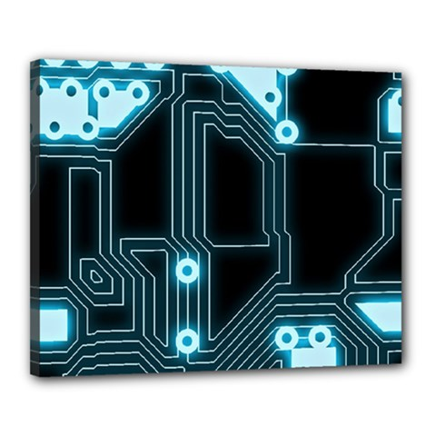 A Completely Seamless Background Design Circuitry Canvas 20  X 16  by Amaryn4rt
