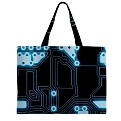 A Completely Seamless Background Design Circuitry Zipper Mini Tote Bag by Amaryn4rt