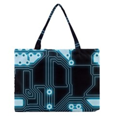 A Completely Seamless Background Design Circuitry Medium Zipper Tote Bag by Amaryn4rt