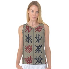Ancient Chinese Secrets Characters Women s Basketball Tank Top by Amaryn4rt