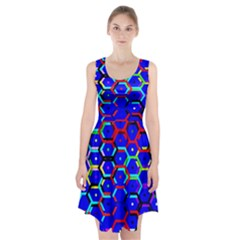 Blue Bee Hive Pattern Racerback Midi Dress by Amaryn4rt