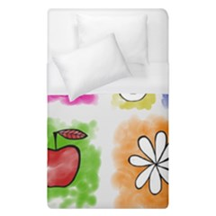 A Set Of Watercolour Icons Duvet Cover (single Size) by Amaryn4rt