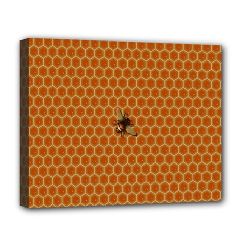 The Lonely Bee Deluxe Canvas 20  X 16   by Amaryn4rt