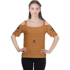 The Lonely Bee Women s Cutout Shoulder Tee by Amaryn4rt