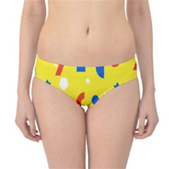 Circle Triangle Red Blue Yellow White Sign Hipster Bikini Bottoms