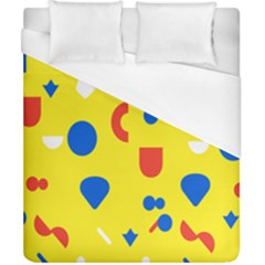 Circle Triangle Red Blue Yellow White Sign Duvet Cover (california King Size) by Alisyart