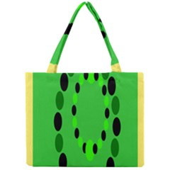 Circular Dot Selections Green Yellow Black Mini Tote Bag by Alisyart