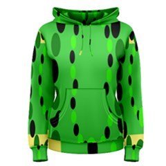 Circular Dot Selections Green Yellow Black Women s Pullover Hoodie