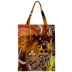Symbols On Gradient Background Embossed Classic Tote Bag by Amaryn4rt