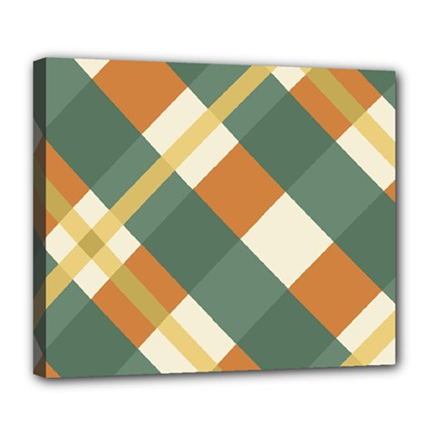 Autumn Plaid Deluxe Canvas 24  X 20   by Alisyart