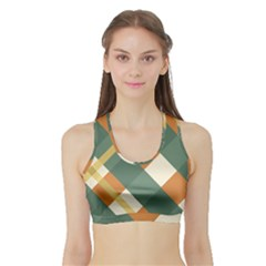 Autumn Plaid Sports Bra With Border by Alisyart