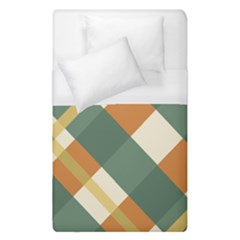 Autumn Plaid Duvet Cover (single Size)