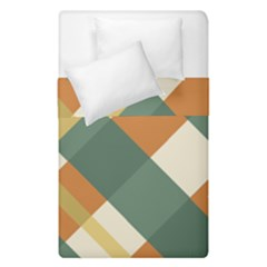 Autumn Plaid Duvet Cover Double Side (single Size) by Alisyart