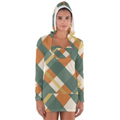 Autumn Plaid Women s Long Sleeve Hooded T-shirt by Alisyart