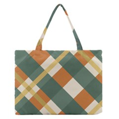 Autumn Plaid Medium Zipper Tote Bag by Alisyart