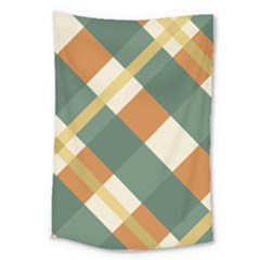 Autumn Plaid Large Tapestry by Alisyart