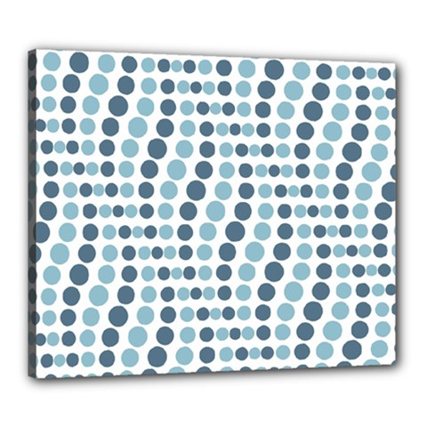 Circle Blue Grey Line Waves Canvas 24  X 20  by Alisyart