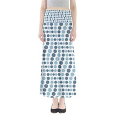 Circle Blue Grey Line Waves Maxi Skirts by Alisyart