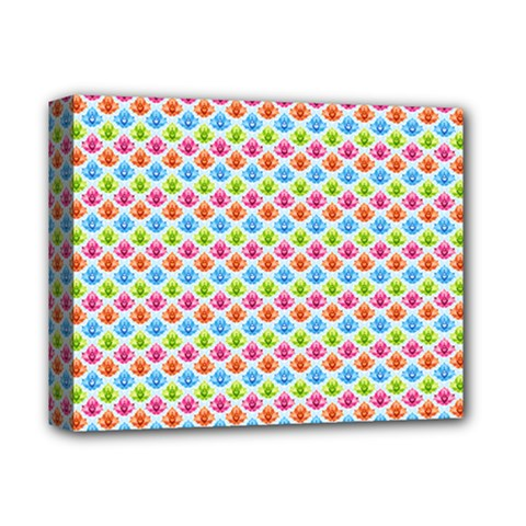 Colorful Floral Seamless Red Blue Green Pink Deluxe Canvas 14  X 11  by Alisyart