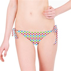 Colorful Floral Seamless Red Blue Green Pink Bikini Bottom