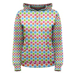 Colorful Floral Seamless Red Blue Green Pink Women s Pullover Hoodie