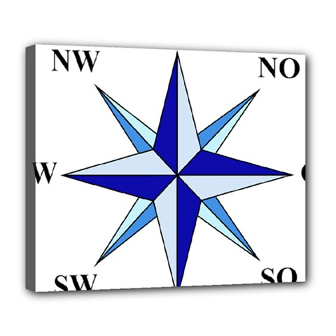 Compass Blue Star Deluxe Canvas 24  X 20   by Alisyart