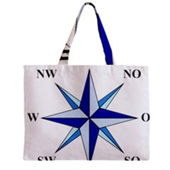 Compass Blue Star Mini Tote Bag by Alisyart