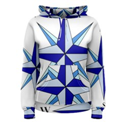 Compass Blue Star Women s Pullover Hoodie