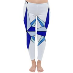 Compass Blue Star Classic Winter Leggings by Alisyart
