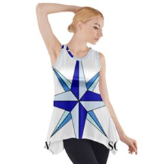 Compass Blue Star Side Drop Tank Tunic