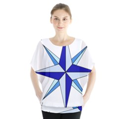 Compass Blue Star Blouse by Alisyart