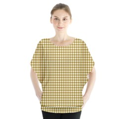 Golden Yellow Tablecloth Plaid Line Blouse by Alisyart