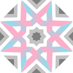 Flag X Blue Pink Grey White Chevron Hook Handle Umbrellas (small) by Alisyart