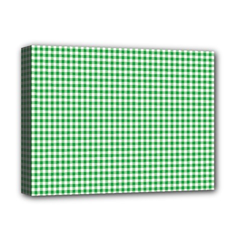 Green Tablecloth Plaid Line Deluxe Canvas 16  X 12