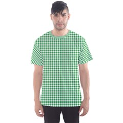 Green Tablecloth Plaid Line Men s Sport Mesh Tee by Alisyart