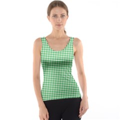 Green Tablecloth Plaid Line Tank Top by Alisyart