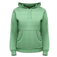 Green Tablecloth Plaid Line Women s Pullover Hoodie